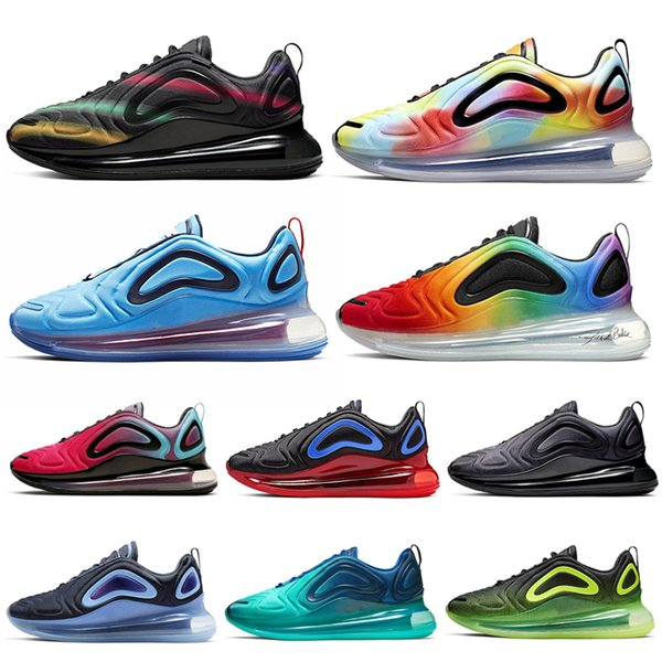 Nike Air Max 720 720 s Erkek Kadın için Koşu Ayakkabıları Üçlü Siyah Beyaz deniz Orman Karbon Gri Toplam Tutulması 72C Atletik Açık Spor Sneakers 36-45