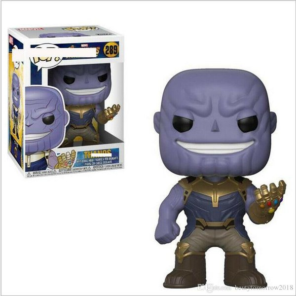 Super Funko Pop Thanos Vinyl Marvel Comics Avengers 3 Action Figure Collection Toys