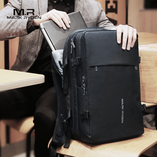 Man Backpack Fit 17 Inch Laptop Usb Recharging Multi-layer Space Travel Male Bag Anti-thief Mochila