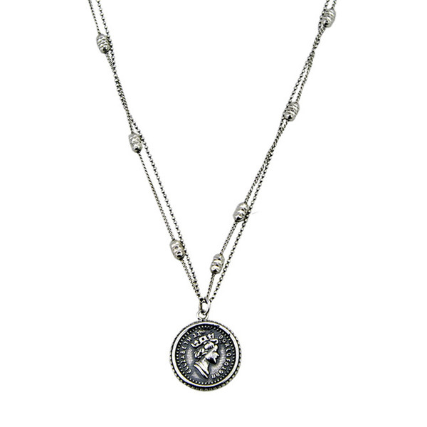 Colore del metallo: argento antico Lunghezza: 50 cm