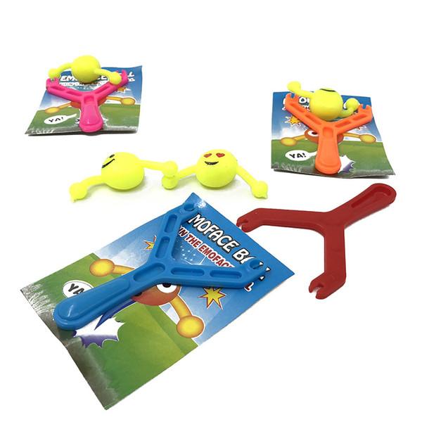 Kids Catapult Emoji Smiley Slingshot Sling Shot Anti-stress Toys for Children Outdoor Toys Tools Adults Funny Games