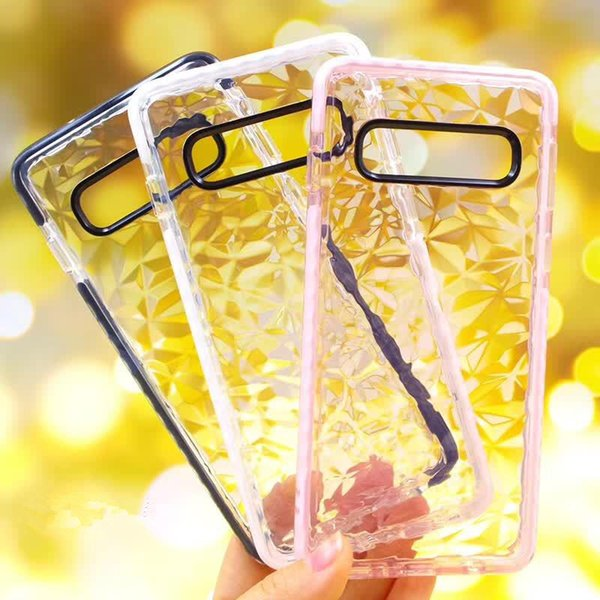 Diamond Pattern TPU Cases For Samsung Galaxy Note 9 S10 Plus A10 A30 A50 Huawei P30 Pro Clear Back Shockproof Cell Phone Covers