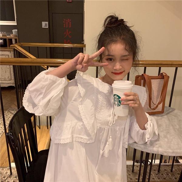 ¡Recomendar! Ruffles Lace Patchwork Vestido suelto Puff manga Baby Doll Style Dress Robe Femme Vestido Mujer Vestiti Donna