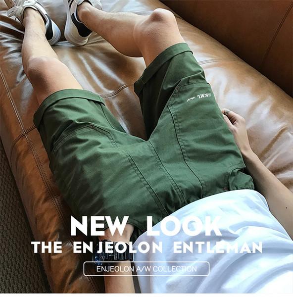Летние Мужские Дизайнерские Шорты Половина Колена Свободные Джокер Pantaloncini Горячие Случайные Спортивные Шорты Одежда