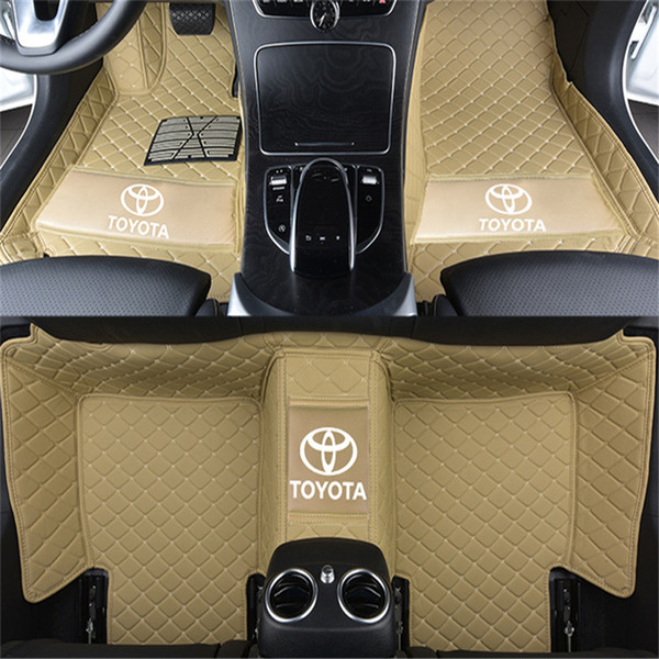 Adecuado para Toyota Camry 2004-2018 alfombrilla de coche de lujo rodeada alfombra de cuero interior impermeable alfombra de costura