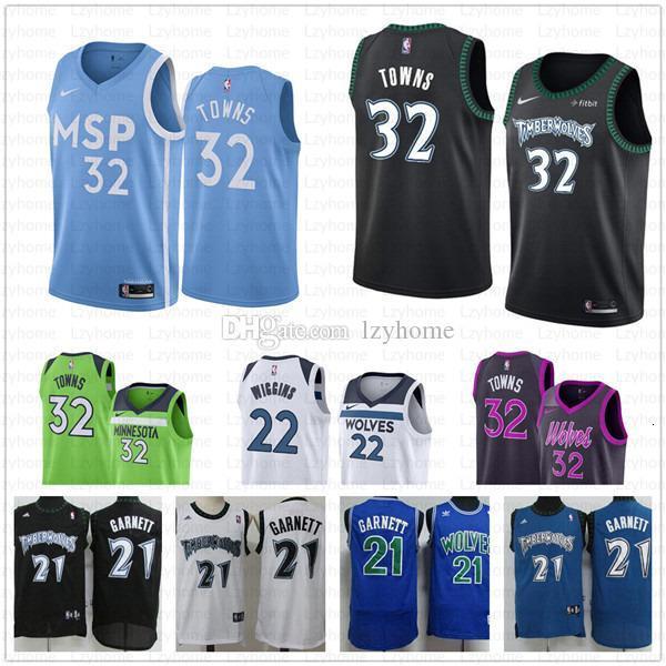 top popular Men's Minnesota Karl-Anthony 32 Towns Timberwolves Jersey Kevin 21 Garnett Andrew 22 Wiggins The City Stitched Basketball Jerseys Fri 2019