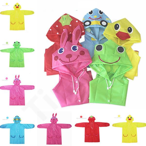 5 colori Per Bambini Modello Animale Impermeabile Bambini Cappotto di Pioggia Ragazze del Ragazzo Cappotto Impermeabile Impermeabile Cappotti modello fumetto Impermeabile 50 pz T1I11581