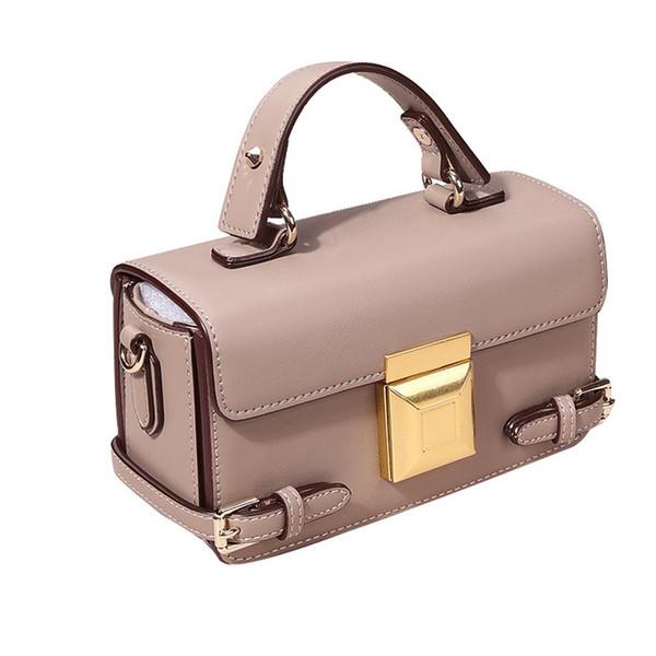Chaud / femme / neuf / cuir véritable / mode / carré / polyvalent / sac à main / bandoulière / sac à bandoulière / peau de vache / serrure