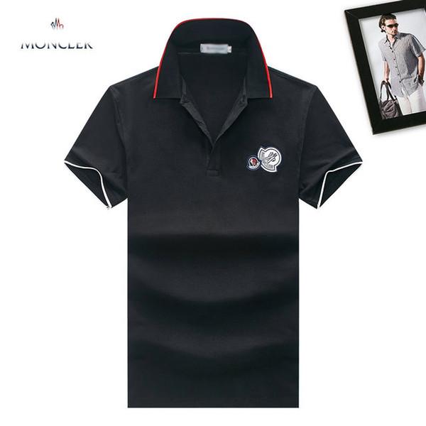 Mengkou T shirt Brand Mens Tshirts quality cotton Men lapel polo shirt Fashion New designer Tshirt famous classic embroidery MC logo tees 8
