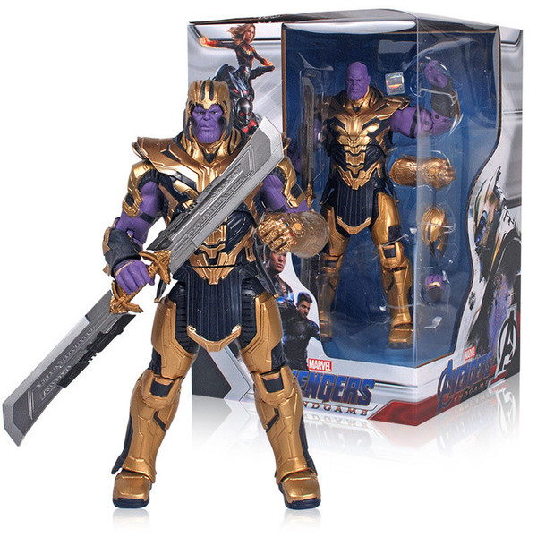 Avengers 4 Endgame PVC Figuras de acción Thanos Capitán América Thor Superhéroe Toy Anime Movie Avangers 4 Figurine Movable Toys L