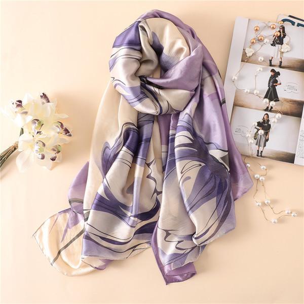 Long Wraps Beach Silk scarf Pashminas soft hot shawl summer scarves Bandana Elegant Foulard for Female