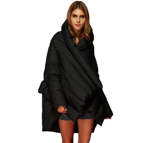 High Quality European New Fashion Designer 2016 Winter Duck Down Parkas for Women Thick Real Down Jacket Long Women Winter Coats