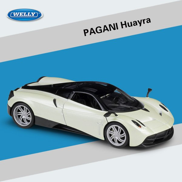 Welly Alloy Car Model Toy, Pagani Huayra Super Car, Roadster 1:24 High Simulation, for Party Kid' Birthday' Gift, Collecting,Home Decoration
