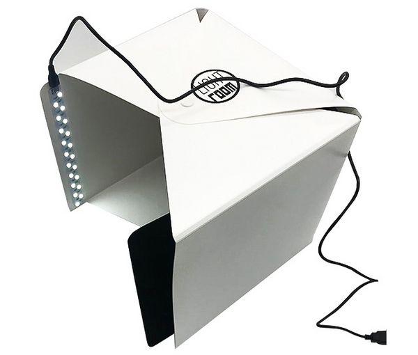 22 CM Taşınabilir LED Işık Odası Fotoğraf Stüdyosu Photostudio Fotoğraf Çadır Mini Katlanmış Zemin Kutusu Mini Fotoğraf Ekipmanları Sıc ...