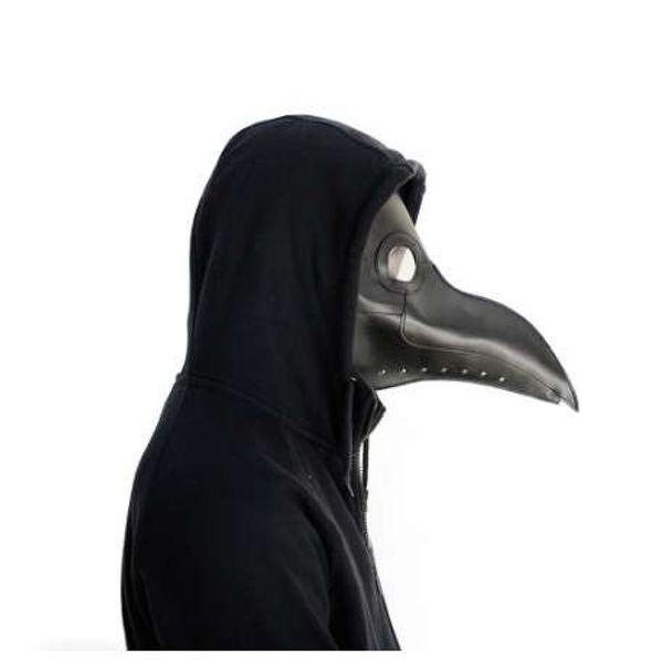 Lenti di resina maschera di cuoio della mascherina di medici di peste maschere facciali con becco per Halloween Steampunk Costume Party Caribbean Masks