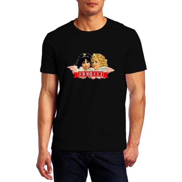 FIORUCCI Black Logo Tshirt Comfortable T Shirt Casual Short Sleeve Print 100% Cotton Short Sleeve T-Shirt New Top Tees