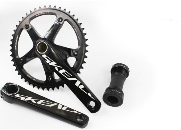 Ultralight AL7075 classic SKE 48T fixed gear bike crankset road track bicycle chain wheel 144 BCD 165mm crank set with axis