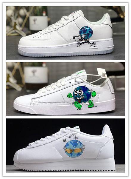 Earth Day 2019 Classic Blazer Cortez Dunk Herren Damen Designer Flyleather Steve Harrington Schuhe One 1s Sports Casual Board Schuhe