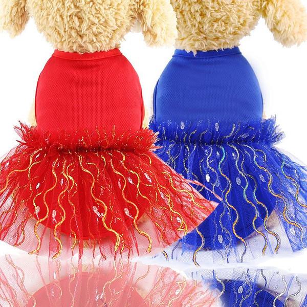 2 pcs colete de Cachorro saia de malha estilo exótico gato roupas pet roupas suprimentos Teddy malha respirável vestido de saias do cão