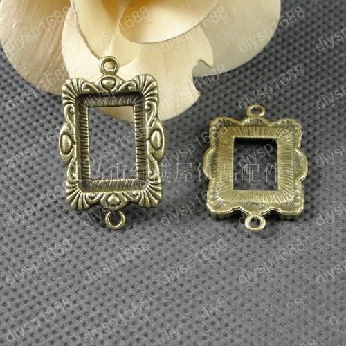 30pcs 20*34MM Antique bronze tibetan picture frame charms vintage metal pendants diy necklace bracelet earring jewelry making material