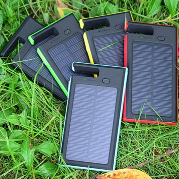 Brand New High Quality 5000mAh Dual USB Solar Power Bank LED Battery Charger For Cell Phone Pad