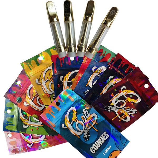 Cali Plug Cartridge Packaging Holographic Flavor Bags 510 Thread Vape Pen Vaporizer 0.8ML 1ML E Cigarettes Vape Carts Glass Oil Atomizers