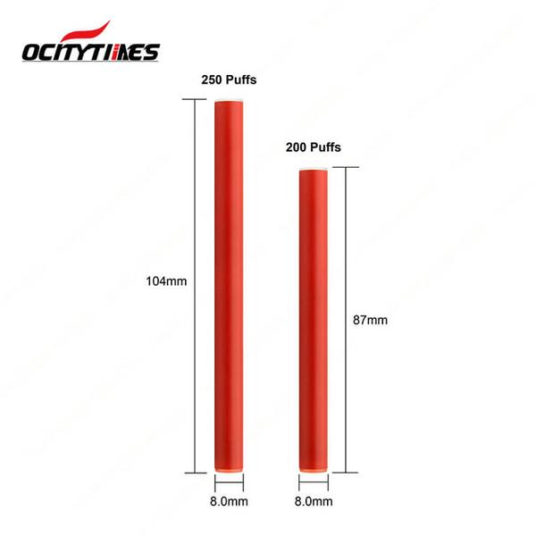cigarette wholesale China size mini disposable e cigarette Disposable Vaporizer 0.4ml Ocitytimes 200puffs disposable vape pen