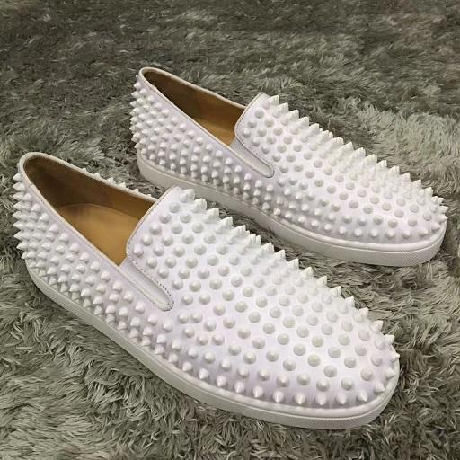 Luxury Designer Men's Shoes Pik Pik Spikes Sneakers Red Bottom Loafers Comfortable Casual Walking Flats,Women Party Wedding