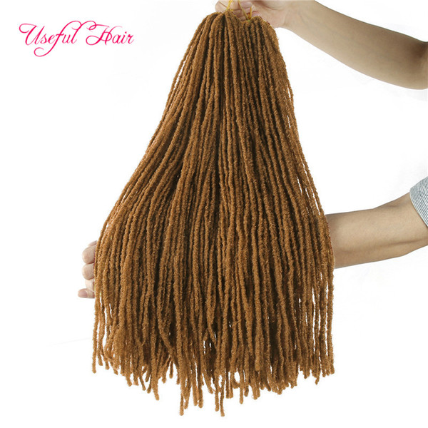 Locs dreads Irmã locs cabelo crochet extensões Afro 18 polegadas Synthetic cabelo trança reta por Mulheres paixão torção marley moda 2020