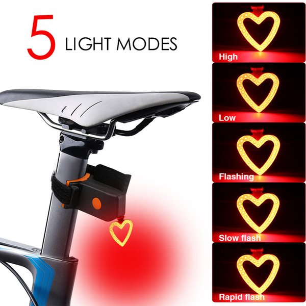 Hot USB Rechargeable Bike Rear Tail Light LED Bicycle Warning Safety Smart Lamp