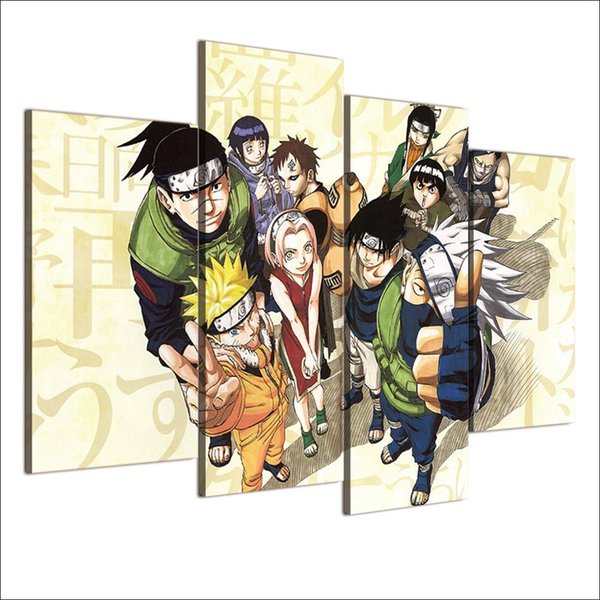 Naruto - Shippuden Anime,4 Pieces Home Decor HD Printed Modern Art Painting on Canvas (Unframed/Framed)