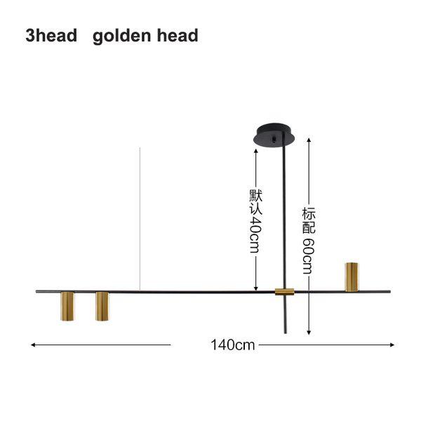 3 teste d'oro