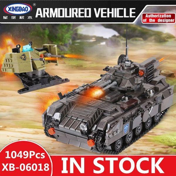 Xingbao 06018 Set LP Building Blocks blindato 1049PCS Serie Militare Genuine giocattoli dei mattoni educativi regali dei bambini