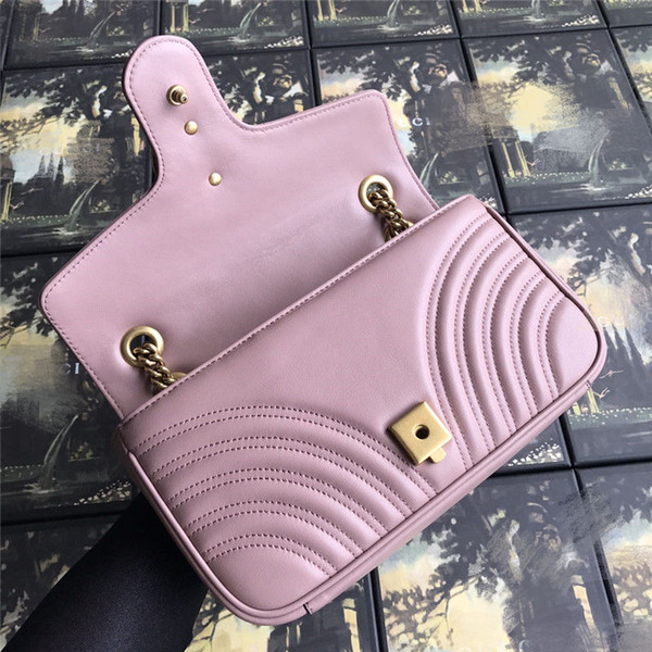Cowhide Leather Women Luxury Chain Crossbody Bag Women Famous Designer Purse Ladies Vintage Hangbags Design for Women free shipping via DHL