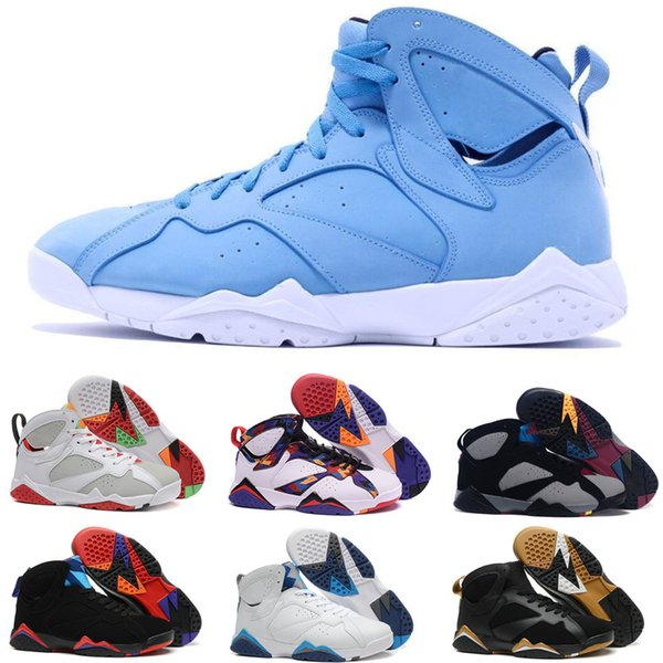 High Quality 7s Mens Basketball Shoes 7 Raptor Bordeaux Hare Tinker Alternate Men French Blue Sweater Olympic Sneaker Sports Shoes Size 7-13