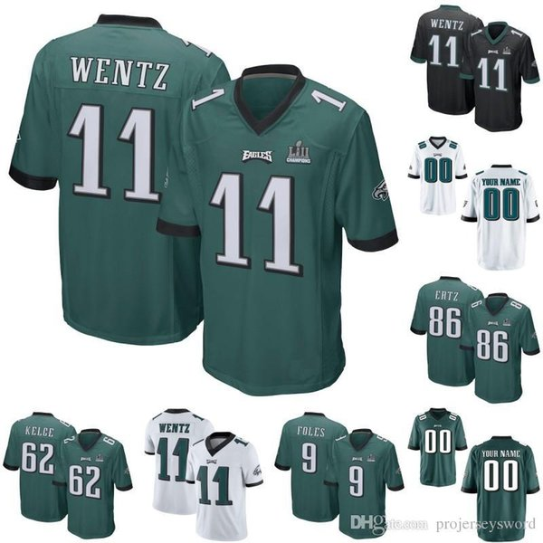 the latest 06f62 36b99 2019 Philadelphia 86 Zach Ertz 10 DeSean Jackson 83 Josh Perkins 33 Josh  Adams 11 Carson Wentz 13 Nelson Agholor Eagles QB Football Jerseys From ...