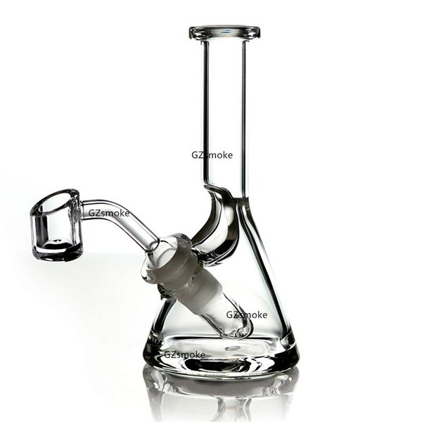 Mini Glass Beaker 5mm Thick Bong Dab Rig Water Pipes Bowl Quartz Banger Bongs Heady Pipe Wax Oil Rigs Small Bubbler