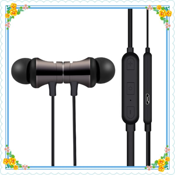 2019 Newest Bluetooth Headphones Magnetic Wireless Running Sport Earphones for i6 Headset with Mic MP3 Earbud For IPhone Smartphones DHL