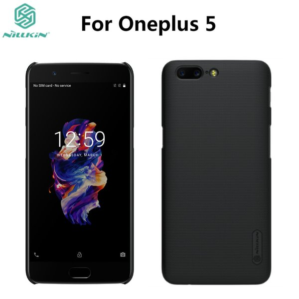 wholesale 5 Case One Plus 5 Cover Case Original NILLKIN Super Frosted Shield For Oneplus5 A5000 Matte Case with Screen Protector