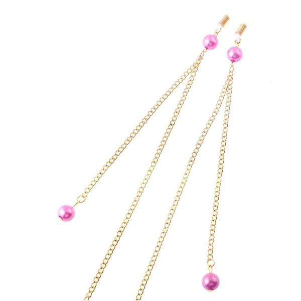 JGL0056 acessórios 2020 mais recente projeto grânulos roxos óculos de ouro corda cordão óculos Chain Europe charme jóias da moda senhora