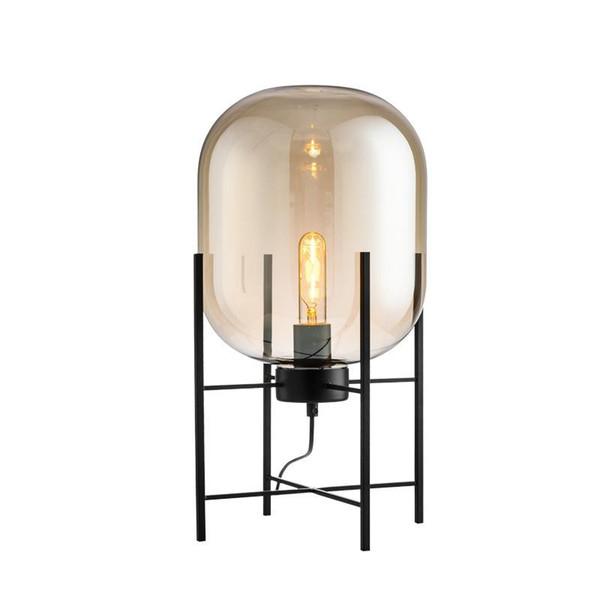 Lâmpada de Assoalho moderna Lâmpadas de Pé para Sala de estar Luminária de Leitura Loft Grande Sombra De Vidro Chão Luzes De Pé E27 Grande Médio Pequeno