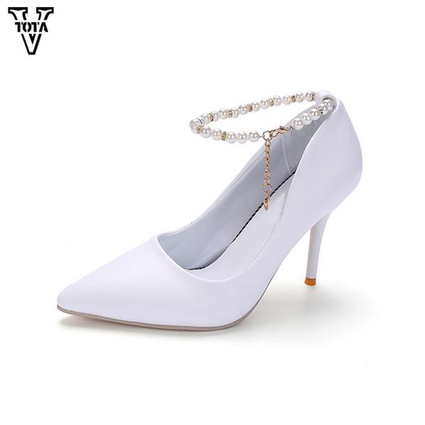 gro�handel vtota 2019 high heels damen pumps string perle schuhe frau fu� ring strap sexy damenschuhe leder spitz zapatos mujer von deals66, $28 53  women& 39;s pump shoes & heels salvatore