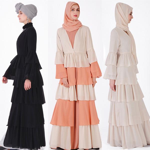 Abaya Dubai Kaftan Hijab Muslim Dress Malaysia Chiffon Cardigan Jilbab Caftan Ramadan Abayas For Women Turkish Islamic Clothing
