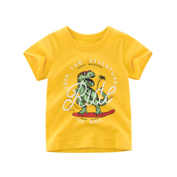 2019 Summer Boys Girls T-shirt Fashion cotton Print Cartoon Children Sports t-shirt Football Kids Baby Short Sleeve Soft Tees