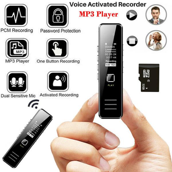 Mp3 Music Media Player Memoria Bulit 32Gb Audio digitale / Suono / Registratore vocale intelligente Protezione password Microfono doppio