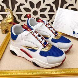 2019 nouvelles chaussures de sport en toile et cuir de vachette réfléchissants 3D de l'Europe sport mode tendance B22 hommes chaussures de sport technique c20 C23