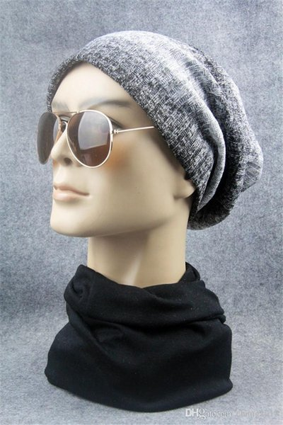 2018 Men Beanies Knit Hat Winter Cap For Man knitted Cap Boys Thicken Hedging Cap Balaclava Skullies Fashion Warm knit Beanie fg007