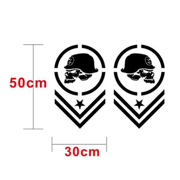2Pcs Car Truck Pickup Off-Road Side Stripe Vinyl Decal Stickers Waterproof ~
