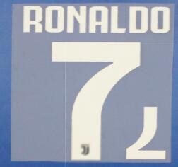 2019 RONALDO NAMESET Dybala reunindo personalizar qualquer número de nome conjunto de impressão reunindo calor transferência Soccer Patch emblema