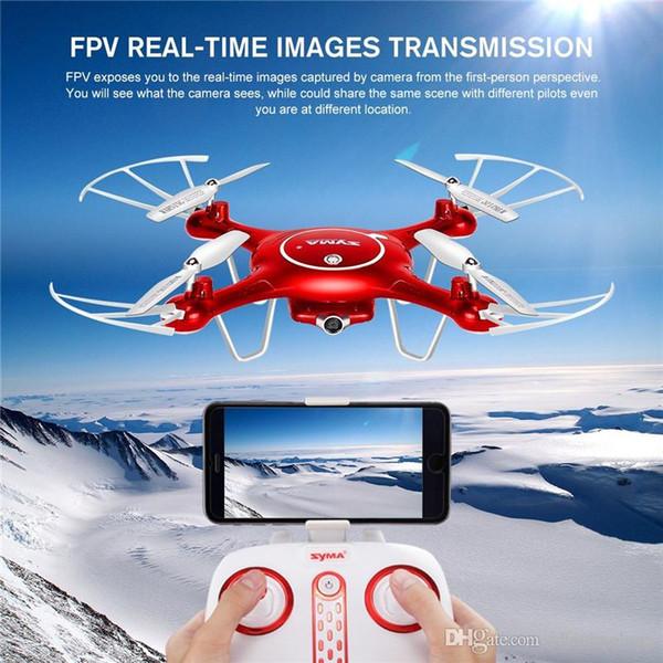 1 pcs Syma X5UW Drone avec caméra WiFi HD 720P Transmission en temps réel FPV Quadricoptère 2.4G 4CH Hélicoptère RC Drone Quadrocopter de haute qualité